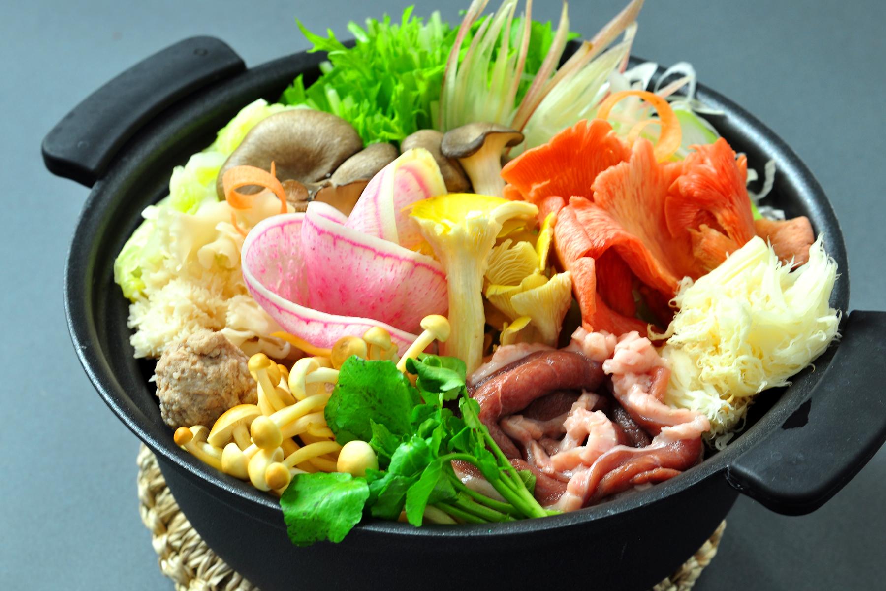 『きのこ鴨鍋』