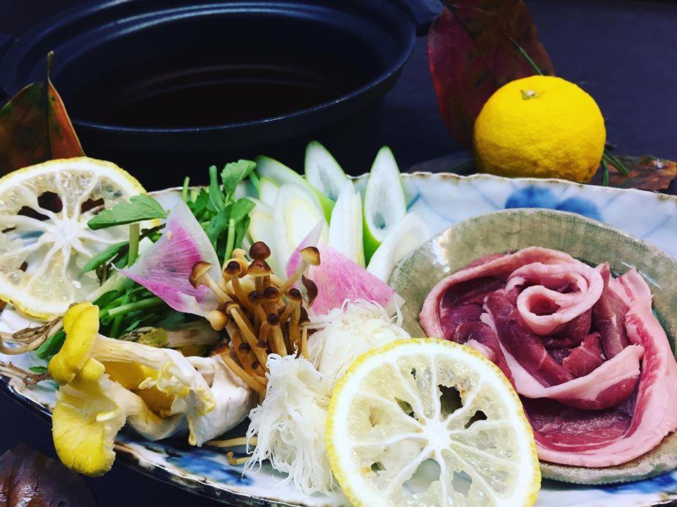猪の柚子香る鍋