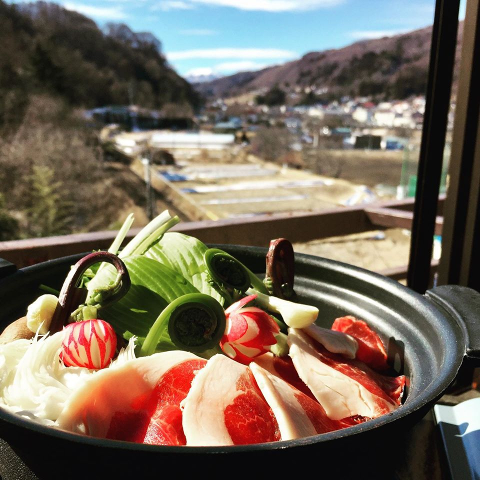 猪肉の山菜鍋