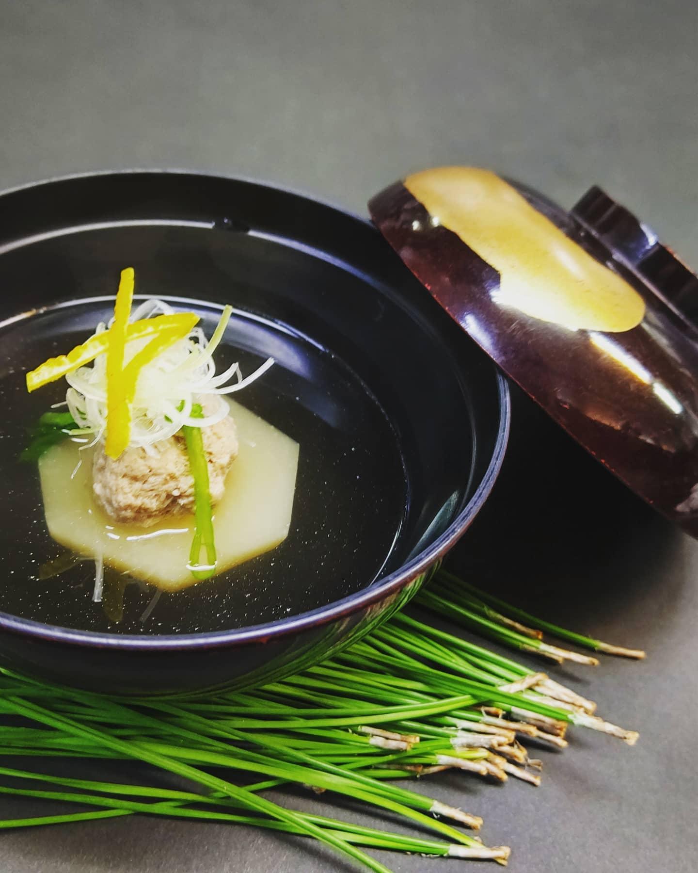 蕪と鴨丸の煮物椀