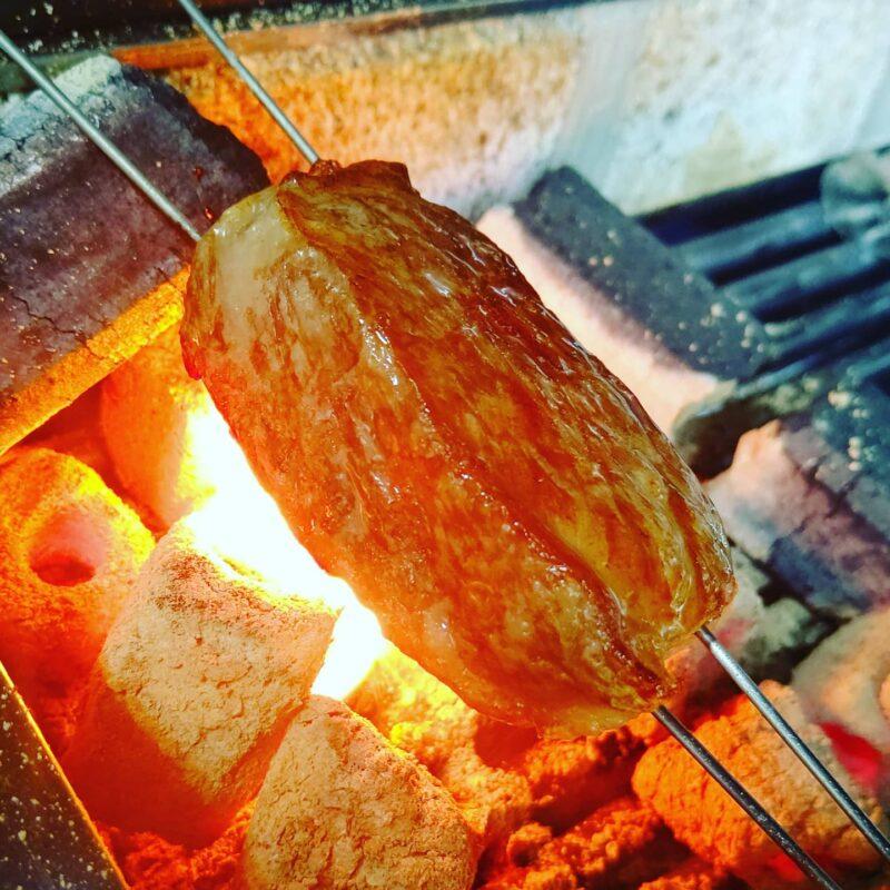 上州和牛の炭火焼き